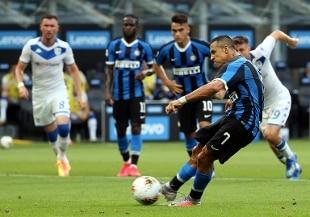 Inter a valanga col Brescia: 6-0. Tra Bologna e Cagliari è 1-1