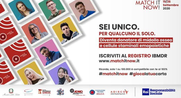 """""""Match at Home"""" parte il progetto per diventare donatori di Midollo osseo restando a casa"""