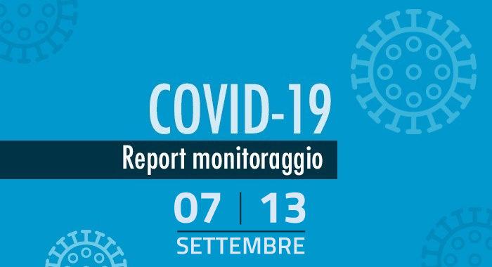 Monitoraggio settimanale Covid-19, report 7-13 settembre