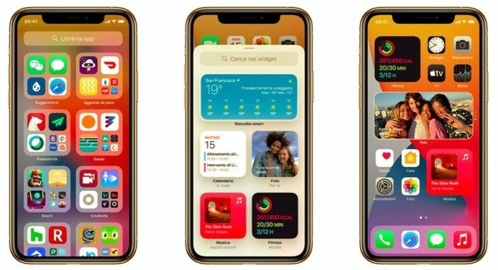 Sull'iPhone arriva iOS, dai widget alle Clip ecco le novità