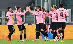 Champions: Juve cede al Barça, pari d'oro per la Lazio