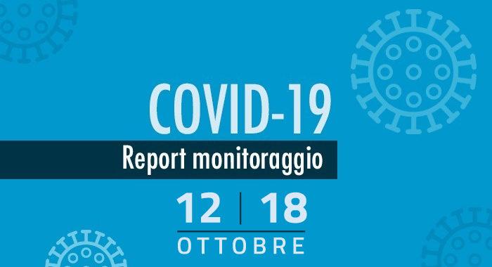 Monitoraggio settimanale Covid-19, report 12-18 ottobre