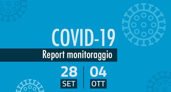 Monitoraggio settimanale Covid-19, report 28 settembre 4 ottobre