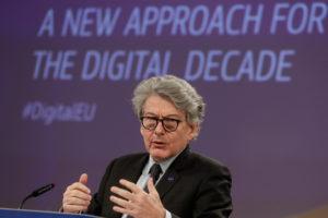 Breton, Big Tech dovranno cambiare e rispettare norme Ue