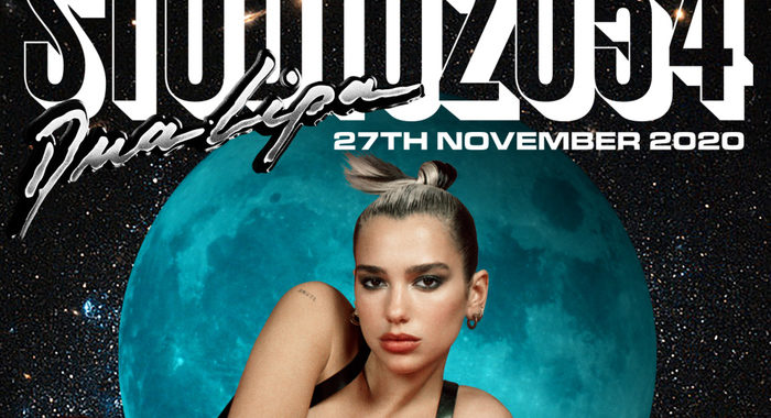 Dua Lipa Star dance pop con live event Studio 2054