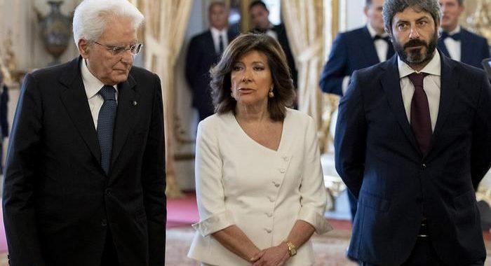 Mattarella vede Casellati e Fico, agevolare dialogo partiti