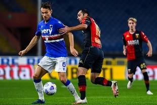 Nel derby della Lanterna tra Sampdoria e Genoa finisce 1-1