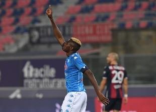 Osimhen-gol a Bologna (0-1): Napoli terzo assieme alla Roma