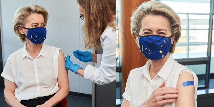 Von der Leyen è stata vaccinata con Pfizer