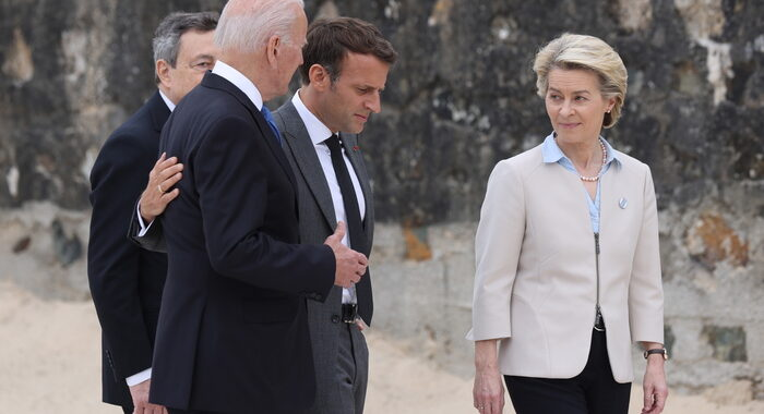 G7: Von der Leyen, vedute comuni dei leader Ue su Covid e Cina