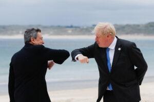 Johnson elogia ruolo Draghi nel G7, 'grande economista'
